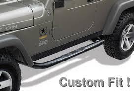 mopar side steps for jeep wrangler unlimited tyger custom fit 2004 2006 jeep wrangler unlimited tj 3 side
