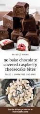 no bake chocolate raspberry cheesecake bites paleo grubs