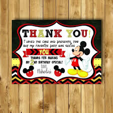 mickey mouse thank you cards mickey mouse thank you card mickey mouse birthday thank you