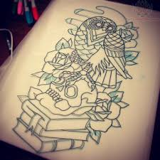 owl and books tattoo designs photo 1 photo pictures and