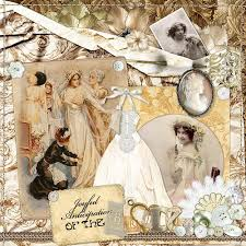 wedding scrapbooks álbum de recortes de boda vintage digital de boda victoriana