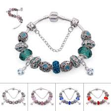 pandora style silver charm bracelet images Silver charm bracelets european style glass beads crystal jpg