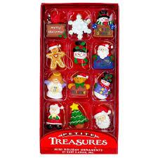 kurt adler mini tree ornaments treasures set of