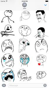Memes Rage Comics - memes rage comic stickers for imessage by alexander bichurin