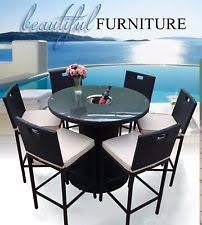 black outdoor table and chair sets ebay
