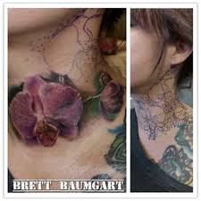 premium tattoo oakland brett baumgart realistic orchid tattoo