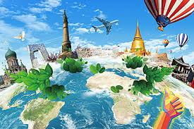 travel abroad images Creative earth travel abroad poster background material earth jpg