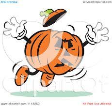 free jack o lantern clipart cartoon of a halloween jackolantern jumping to frighten royalty