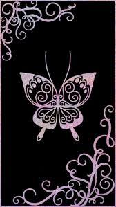 wallpapers of glitter butterflies black and pink butterfly backgrounds lockscreens pinterest