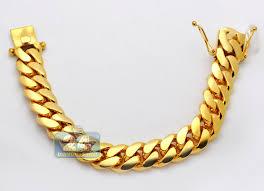 cuban gold bracelet images 10k yellow gold miami cuban link mens bracelet 16 mm 9 inches jpg