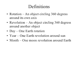 what is meant by rotation and revolution of a planet socratic