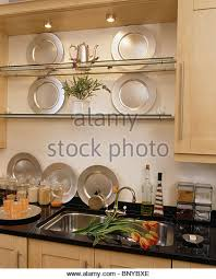 Shelf Above Kitchen Sink crockery on shelves in kitchen stock photos u0026 crockery on shelves