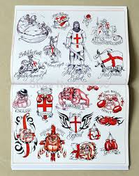 2015 new chinese traditional tattoo books flame sword cross wing