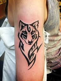 wolf on simple wolf small geometric