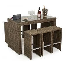 Maze Rattan Winchester  Seater Bar Garden Furniture Set - Rattan furniture set