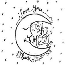 to the moon and back hand lettering by heidi nicole yes