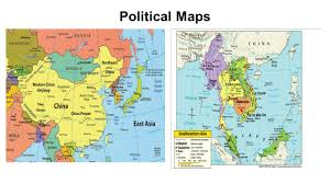 Political Map Of East Asia by East And Southeast Asia Map Political Maps Physical Maps Ppt