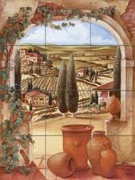 tuscan wall murals tuscan landscapes for tile murals tile