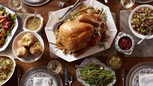 thanksgiving dinner menus