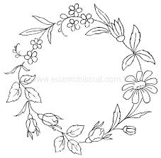 flower circlet embroidery design embroidery