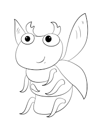 cute cartoon bug coloring free printable coloring pages