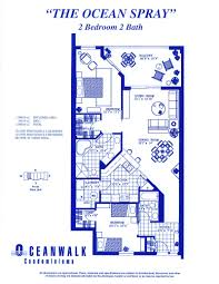 Floor Plans Florida by Ocean Walk 2 Bedroom Floor Plans New Smyrna Beach Real Estate And