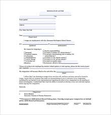 two weeks notice resignation letter template u2013 7 free word excel