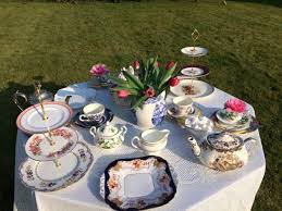 hire vintage tea sets china cups and plates