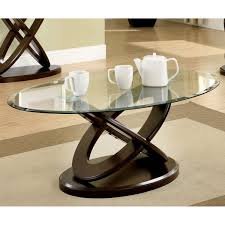 oval glass and wood coffee table oval glass top coffee table pertaining to household best design ideas