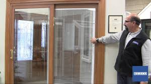 Blinds For Glass Front Doors Sliding Patio Door With Built In Blinds Youtube