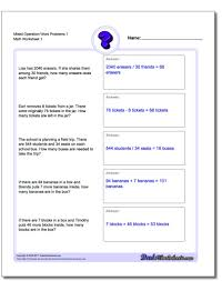 5th grade order of operations worksheets mixed operation word problems