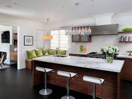kitchen island decor decorations chic rectangle dark brown textured wood modern