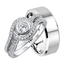 His And Hers Wedding Ring Sets by His And Hers Wedding Rings Sterling Silver Titanium Stainless
