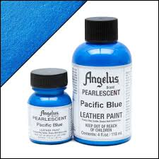 turquoise blue paint angelus pearlescent pacific blue paint angelus brand shoe paint