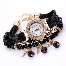 crystal bracelet watches images Buy duoya brand watches women black luxury jpg