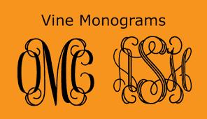 Initial Monogram Fonts Vine Monograms Harold U0027s Fonts
