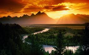 landscape sunset mountain wallpaper