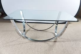 furniture half round chrome table bases for square clear glass