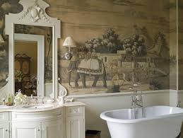 Hand Painted Wallpaper by Bathroom Chinoiserie Powder Room Airmaxtn