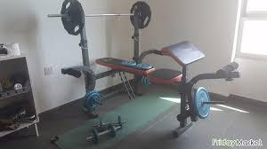 Weight Set Bench Press Gym Bench Press Weight Set In Kuwait Fridaymarket