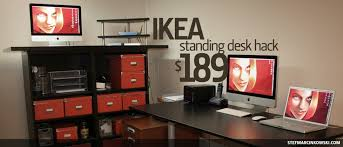 Stand Up Office Desk Ikea Ikea Standing Desk Hack Tv Stand With Desk Adjustable Standing