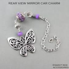 personalized rear view mirror charms elephant and amethyst car decoration elephant dangle rear view