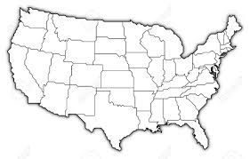 Unites States Map by Political Map Of The United States With The Several States Stock