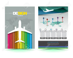 free illustrator brochure templates vector airplane brochure template design business graphics