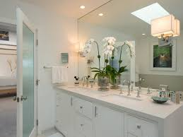 how to decorate bathroom mirror contemporary bathroom sconces hanging on the large bathroom mirror