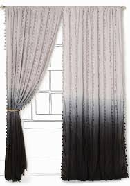 Grey Ombre Curtains Wavering Ombre Curtain