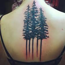 collection of 25 back legs forest tree tattoos