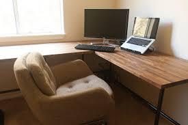Floating Desk Plans Diy Floating Desk Furniture Awesome L Shaped Corner Nature Wood