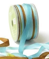 may arts silk ribbon may arts ribbon turquoise brown dip dye silk ribbon