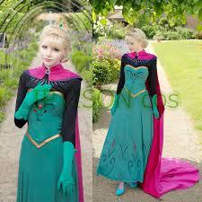 Anna Elsa Halloween Costumes Cheap Snow Queen Halloween Costume Aliexpress
